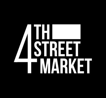 logo for 4th street market in black